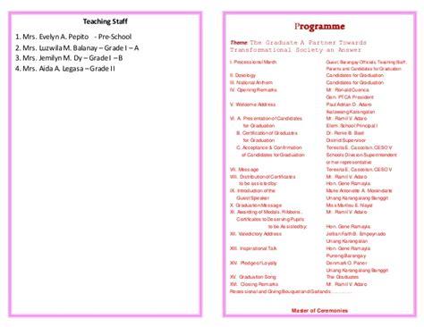 activity programme template preschool graduation program template just b cause