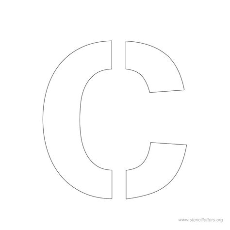 printable letter c stencil pin stencil letters v printable free stencils org on pinterest