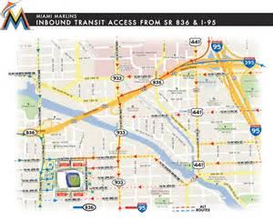 mlb map florida driving directions to marlins park marlins ballpark