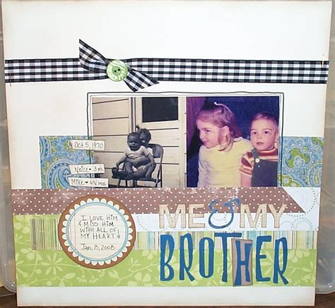 scrapbook layout ideas 5 photos scrapbook layout me my brother scrapbook com