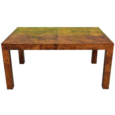 parsons dining room table milo baughman parsons dining table in deep burl for lane