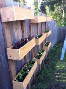 hanging planter boxes on the fence organizing ideas
