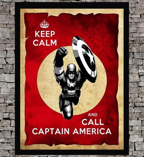 Captain America Vintage 2 Oceanseven captain america keep calm minimalist poster print 11 quot x17