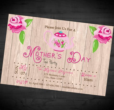 Mother S Day Invitation Templates 17 Psd Ai Eps Format Download Day Invitations Template