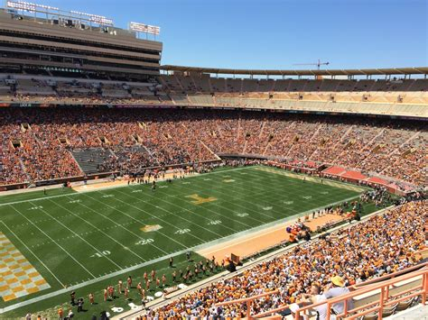 neyland stadium visitors section neyland stadium section gg rateyourseats com