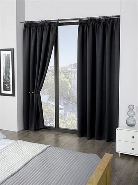 heat reducing curtains buy black ready made curtains 90x90 blackout thermal