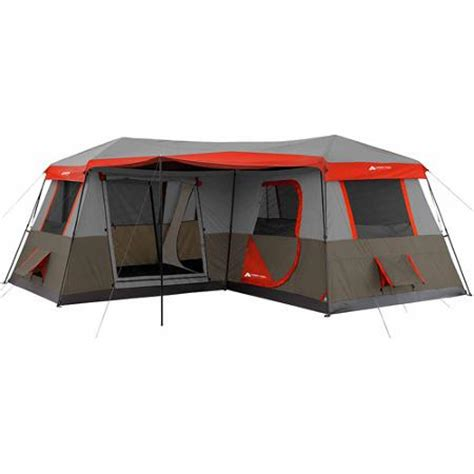 ozark trail 10 person 3 room cabin tent ozark trail 16 x 16 instant cabin tent sleeps 12 walmart