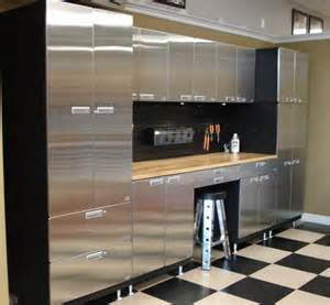 Garage Cabinets Wood Vs Metal Garage Innovations Stainless Steel