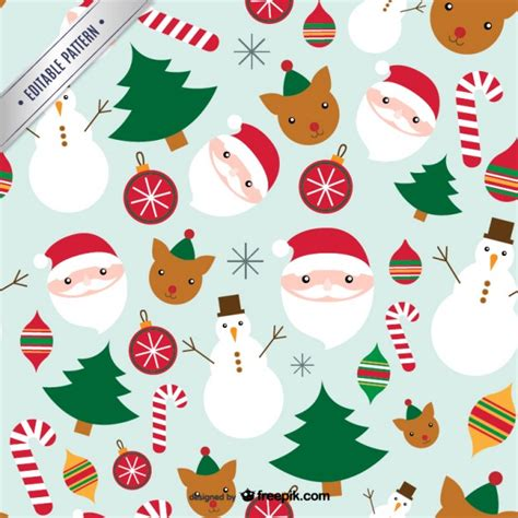 christmas patterns early years cute christmas pattern vector free download
