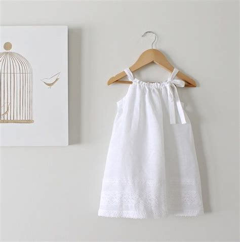 white baby dress toddler white linen and lace dress baby baptism