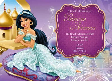 printable jasmine invitations disney princess jasmine birthday invitation card for more