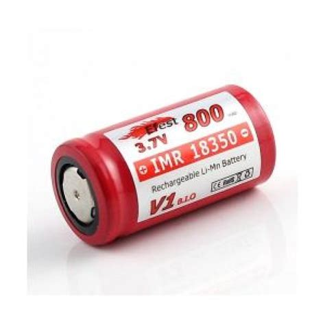 Efest Imr 18350 Battery 700mah 3 7v 10 5a With Flat Top efest imr 18350 800mah 3 7v limn battery