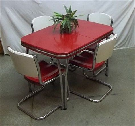 50s arvin metal table chair dining room dinette set lawn