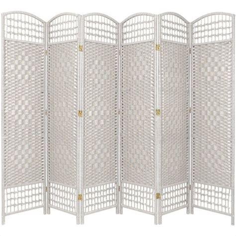 oriental furniture six panel fiber weave room divider in