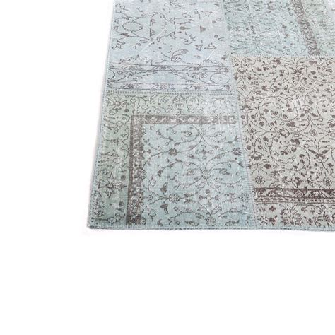 Turquoise Patchwork Rug - turquoise vintage patchwork rug 200x300cm