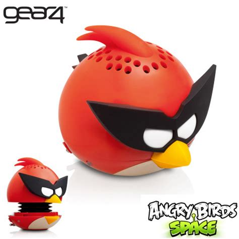 gear angry birds gpgg mini speaker space red bird