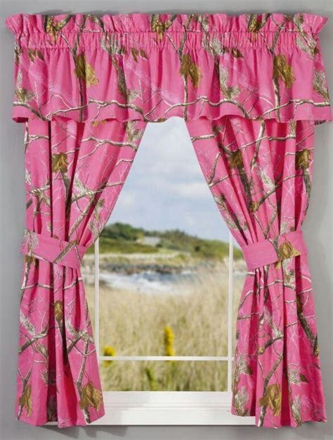 pink mossy oak curtains camouflaging the bedroom with camo curtains
