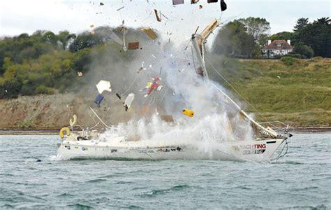 canal boat crash crash test boat gas explosion