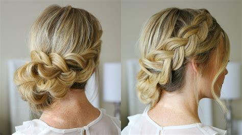 wedding hair cover ears dutch braid holiday updo missy sue youtube