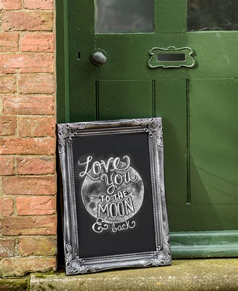 ornate shabby chic large chalkboard memo board