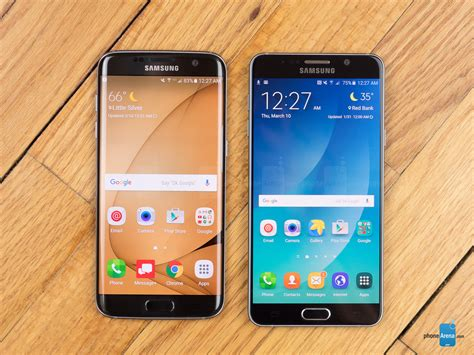 samsung galaxy s7 edge vs samsung galaxy note 5 phonearena