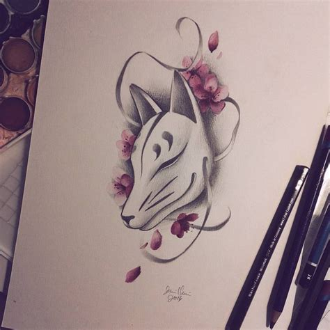 japanese anime tattoo designs best 25 kitsune mask ideas on japanese fox