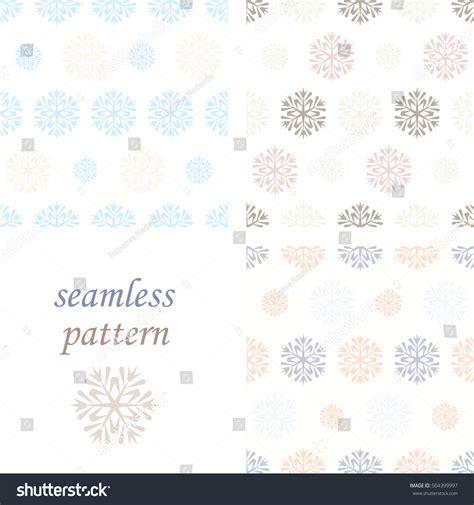 pastel winter pattern set of light pastel seamless vintage winter pattern with