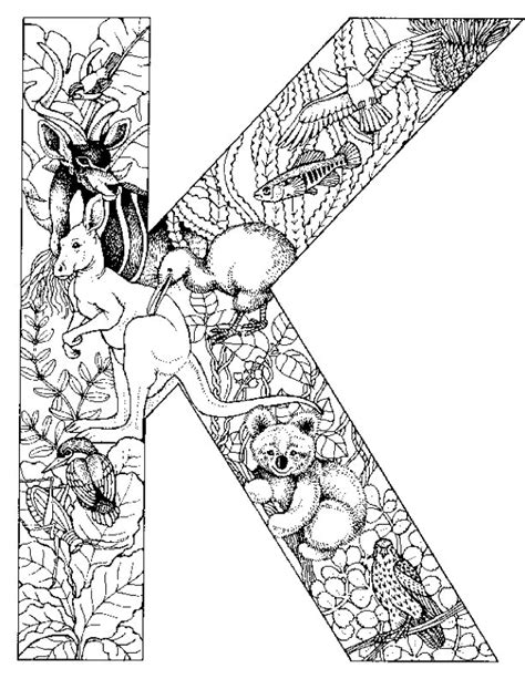 coloring pages for adults letter k mobile adult coloring letter k coloring pages