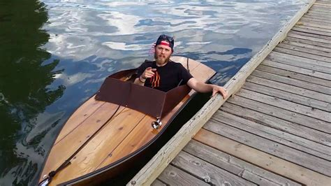 plywood boat electric inboard small youtube