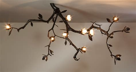 tree branch light fixture tree branch with lights interior design ideas