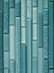details about aqua horizontal mosaic glass tile kitchen