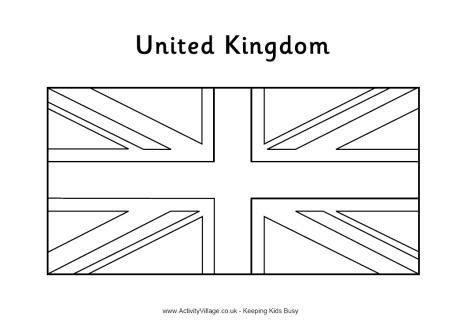 coloring page union jack flag united kingdom flag colouring page