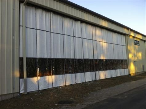industrial outdoor exterior curtains insulated large