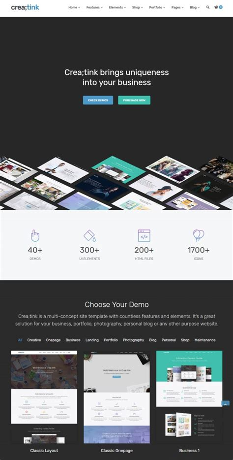Creatink Html5 Template Css Showcase Gallery Css Based Web Design Gallery Designers Love Css Design Templates