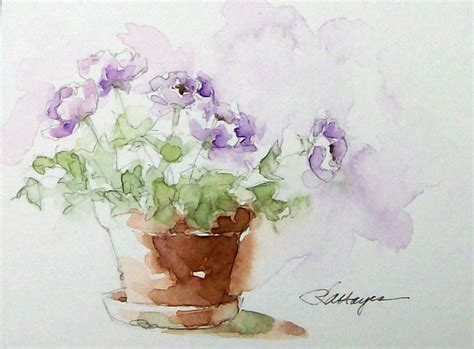 watercolor paintings by roseann watercolor painting flowers