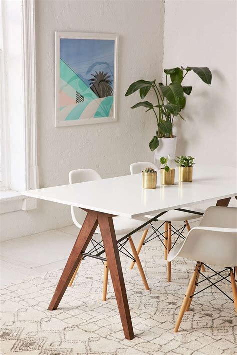 modern excel table design wood dining small designs lighten up dinner time with these 15 white dining room tables