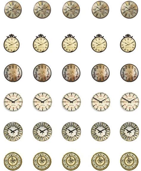 printable dollhouse clock clock faces clock and dollhouses on pinterest