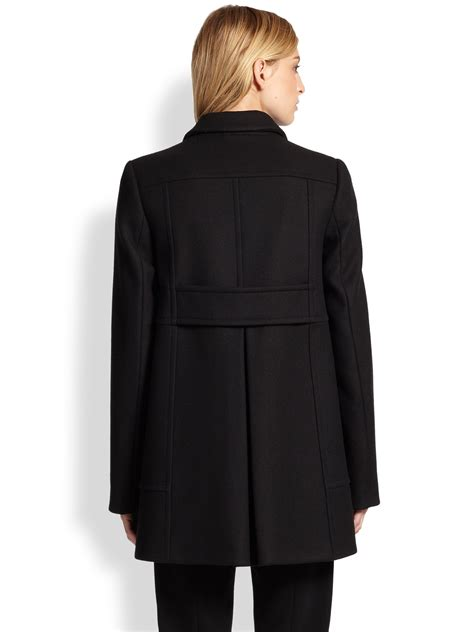 Proenza Schouler Swing Back Coat In Black Lyst