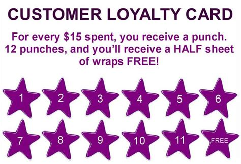 customer loyalty card template free custom card template 187 buy 10 get 1 free punch card