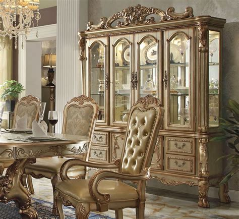 formal dining room sets with china cabinet dresden gold formal dining table set