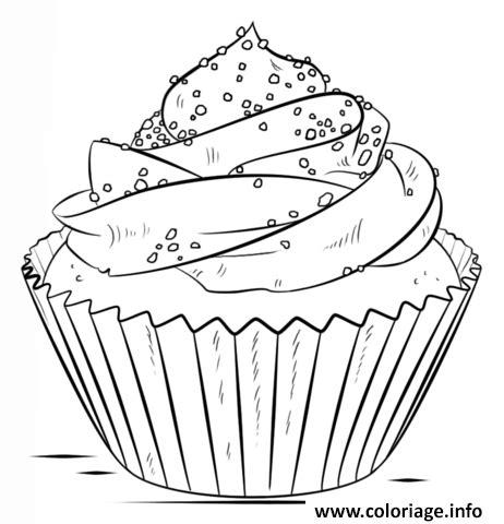 Coloriage Cupcake Chocolat dessin