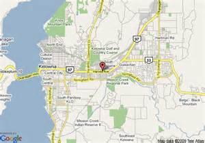 map of sandman hotel kelowna kelowna