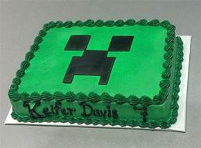 order a plain green cake and make the creeper face out of