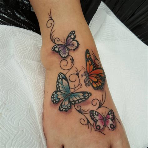 32 Foot Tattoo Designs Ideas Design Trends Premium Butterfly Tattoos Designs On Foot