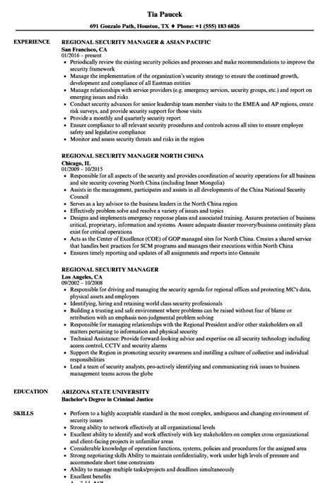security manager resume format regional security manager resume sles velvet