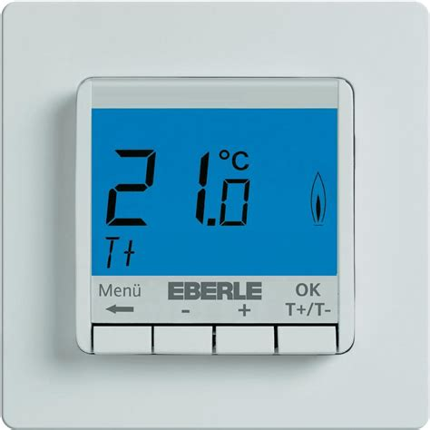room thermostat flush mount 5 up to 30 176 c eberle from
