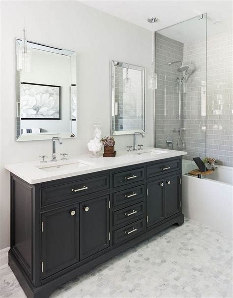 Black Vanity Bathroom Ideas Best 25 Black Bathroom Vanities Ideas On Black Cabinets Bathroom Bathroom Cabinets