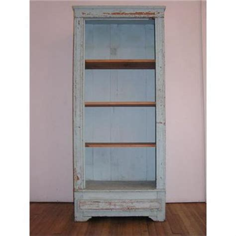 antique shabby blue cabinet bookcase 1578512