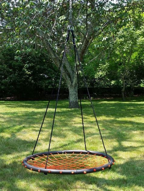 orange swing 100cm orange round spider web nest swing heavenly hammocks