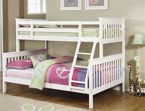 white bunk bed white bunk bed from coaster coleman furniture